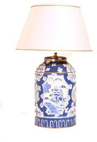 The Well Appointed House Dana Gibson Blue Canton Tea Caddy Lamp with Shade
