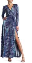 Hale Bob Reptile Maxi Wrap Dress