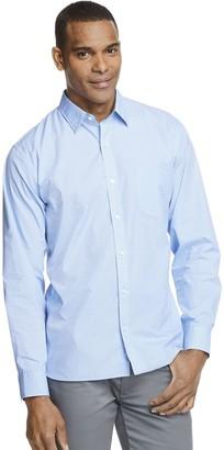 Van Heusen Men's Never Tuck Classic-Fit Point-Collar Poplin Button-Down Shirt