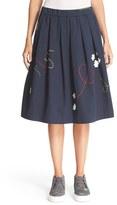 Mira Mikati Women's Embroidered Rocket Midi Skirt