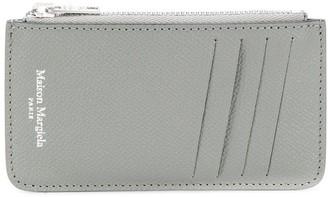 Maison Margiela Logo-Print Zip Cardholder