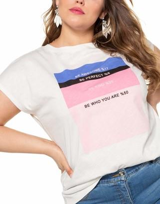 Studio Untold Women's Damen Groe Groen Oversize-Shirt Mit Frontprint T