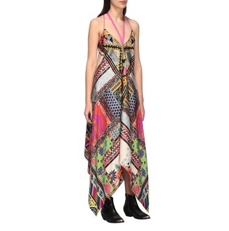 Etro Long Dress With Triangle Neckline