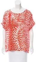 Pierre Balmain Leopard Print Silk Top