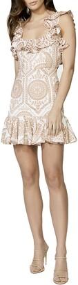 Bardot Eliza Contrast Eyelet Minidress