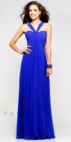 Faviana Chiffon Sweetheart V Neck Homecoming Dress