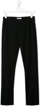 MSGM Kids rear logo patch trousers