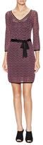 Trina Turk Blanche Belted Zig-Zag Sweater Dress