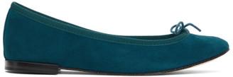 Repetto Green Suede Cendrillon Ballerina Flats