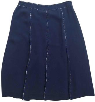 Cacharel Black Silk Skirt for Women
