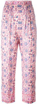 Masscob cropped floral trousers - women - Silk - 36