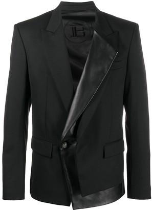 Balmain Leather Lapel Blazer