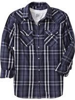Old Navy Men's Plaid Regular-Fit Western Shirts