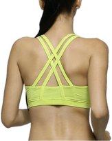 Animas Women's Sexy Cross Back Wirefree Fitness Yoga Sports Bra Black M