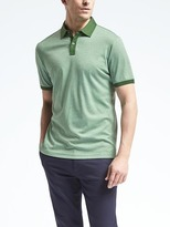 Banana Republic Slim Luxury-Touch Heathered Polo