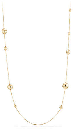 "David Yurman Solari Long 18K Gold Station Necklace, 34""L"