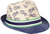BEIGE Toby Fairy Boys' Fedoras NAVY - Navy & Color Block Pineapple Fedora