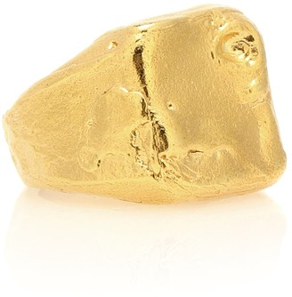 Alighieri The Lost Dreamer 24kt gold-plated ring