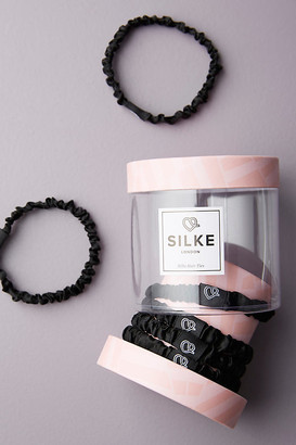 SILKE LONDON Silk Hair Tie Set By in Black