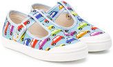 Pépé car print sandals - kids - Cotton/Leather/rubber - 30
