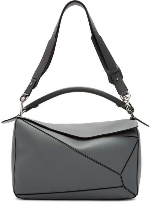 Loewe Grey Large Puzzle Bag