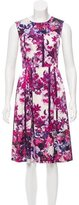 Erdem Floral Print Silk Dress