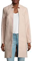 LK Bennett Violet Cotton Belted Coat