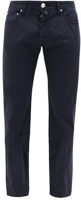 Jacob Cohen Slim-leg Cotton-blend Chino Trousers - Blue