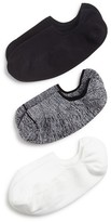 Hue Air Sleek Liner Socks, Set of 3