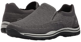 Skechers Relaxed Fit Expected - Gomel (Black Knitted Mesh) Men's Shoes