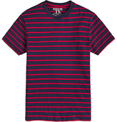 Joules Boathouse Slub Cotton Striped T-shirt, French Navy/red