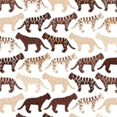 Avalisa Tiger Pattern Stretched Print
