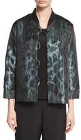 Caroline Rose Animal Ice Jacquard Boxy Jacket, Petite