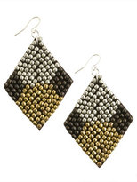 Beaded Diamond Shape Earring