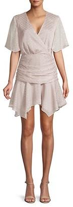 Endless Rose Asymmetrical Star-Print Mini Dress