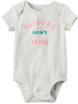 """Carter's Baby Girl Daddy & I Agree Mom's The Boss"""" Graphic Bodysuit"""
