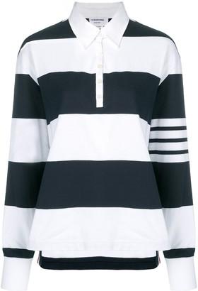 Thom Browne 4-Bar striped rugby polo