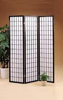 Acme 02284 71-Inch-High Black Wood Folding Screen