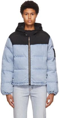 Alexander Wang Blue Bleached Hybrid Puffer Jacket