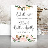 Emmy Designs Wedding Welcome Board Pink Floral