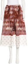 Elizabeth and James Abstract Print Silk Skirt w/ Tags