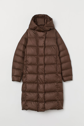 H&M Lightweight Hooded Down Coat