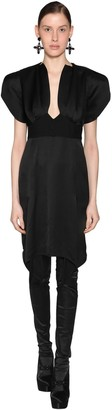 Olivier Theyskens Empire Waist Ruffled Viscose Midi Dress