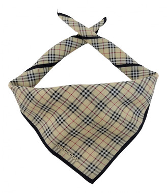 Burberry Beige Cotton Scarves & pocket squares