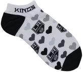 For Bare Feet Women's Los Angeles Kings Heart Logo Repeat Socks