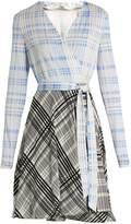Diane von Furstenberg V-neck contrast-skirt wrap dress