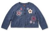 Tea Collection 'Panji' Embroidered Cardigan (Toddler Girls, Little Girls & Big Girls)