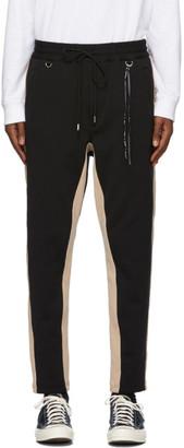 Mastermind Japan Black and Beige Side Line Lounge Pants