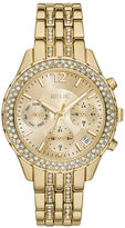 JCPenney RELIC Relic Merrit Womens Crystal-Accent Gold-Tone Bracelet Watch ZR15786