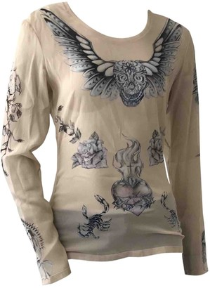 Alexander McQueen Beige Silk Top for Women